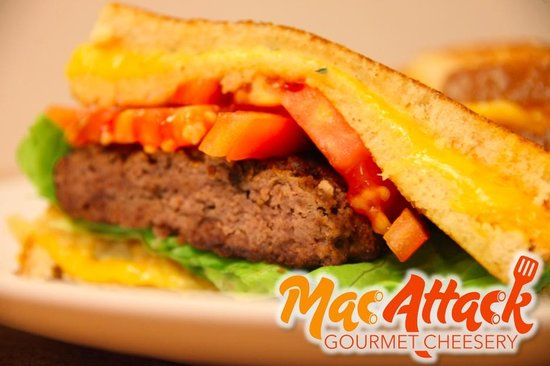 Mac Attack: Grilled Burger (Between 2 Grilled Cheese)