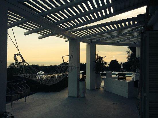 Grand Hotel l'Approdo: Terrace @ Villa Pajare Francesi, Santa Maria di Leuca