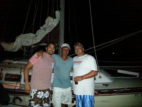 Anna Maria Sailing Adventures: Eric, Matt, and Octavio Chillin'