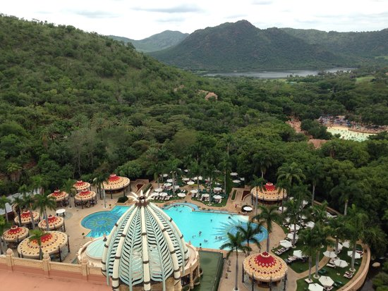 The Palace of the Lost City: Bird's eye View of hotel area