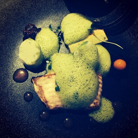Il Gallo d'Oro: Turbot with green foam