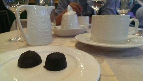 Restaurante Goya: Coffee and chocolates