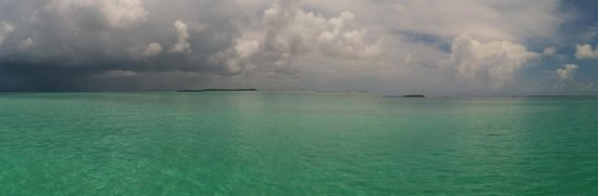 Blu Q Catamaran: View of a storm moving in off the sandbar area on the Blu Q