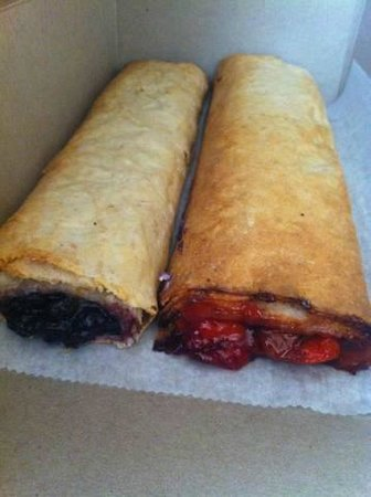 Hungarian Strudel Shop: Blueberry & Cherry Strudel. Yum!