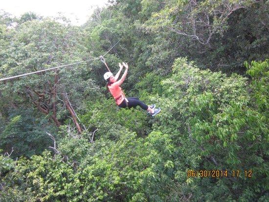 Edventure Tours: Having fun ziplining!