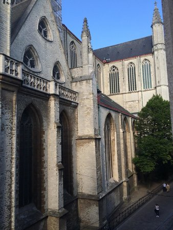 Ibis Gent Centrum St-Baafs Kathedraal: View from our room- St Bravo's Cathedral