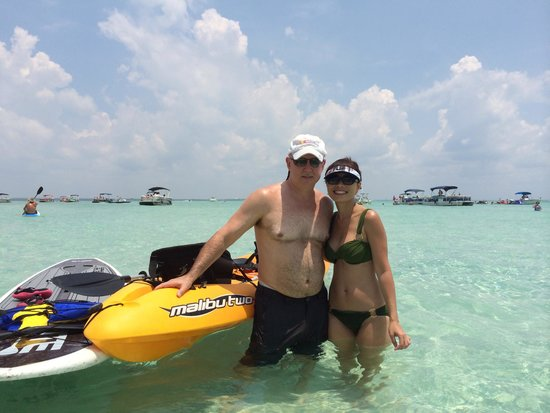 Blue Crab Watersports: Kayak & paddle boarded to Crab Island