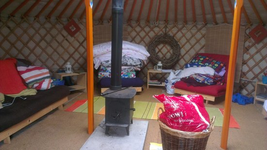 West Wood Yurts: Inside