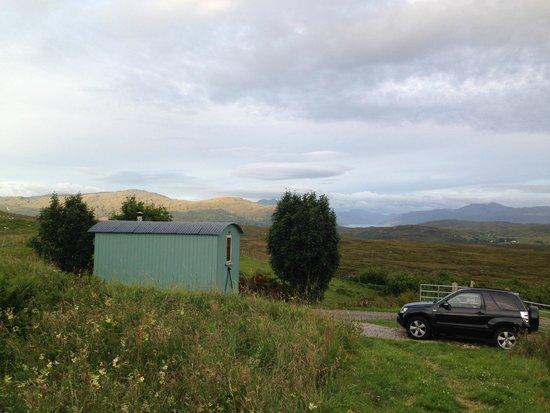 Skye Shepherd Huts: Hut with view