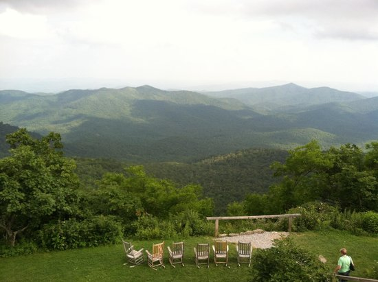 Pisgah Inn: View from our balcony - Pisgah Suite