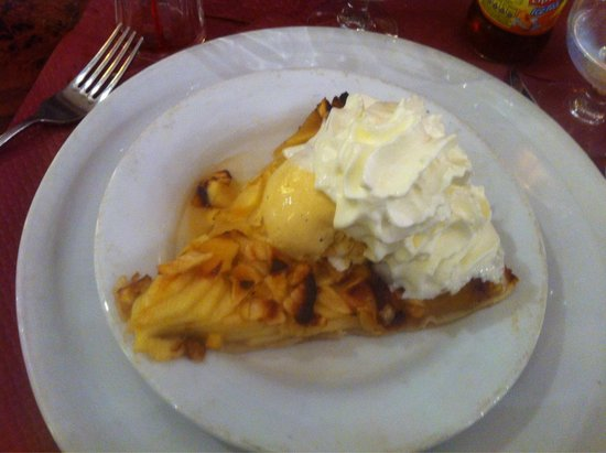 Grill d'Or : Tarte au pomme flamber !