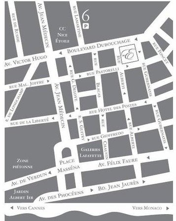 Hotel Ellington : Location Map