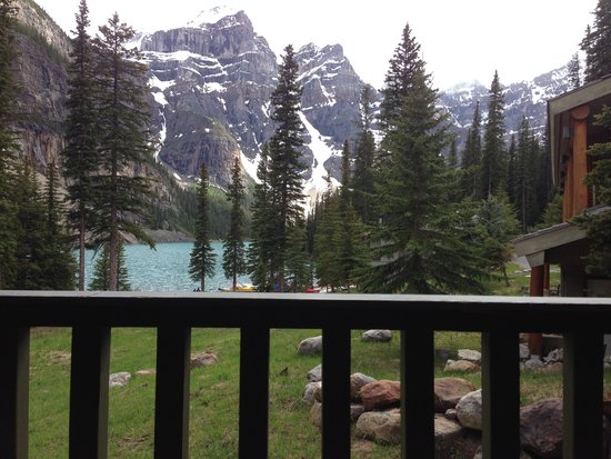 Moraine Lake Lodge : View from our room in the Lodge