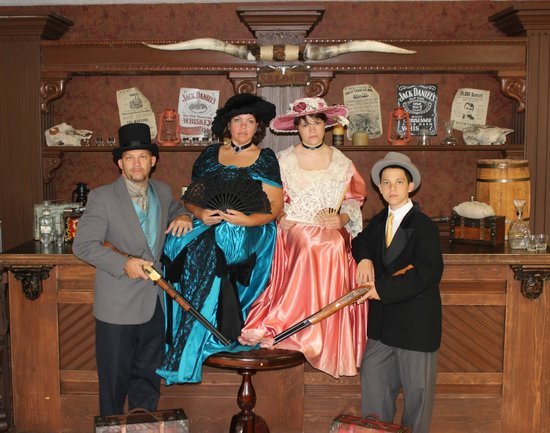 Wild Gals Old Time Photo: We dressed like southern bells, this is the bar sceen