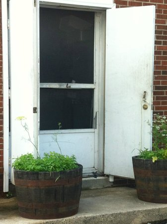 The Preston County Inn: Back door entrance
