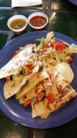 Burrito Company: Shrimp lunch special.