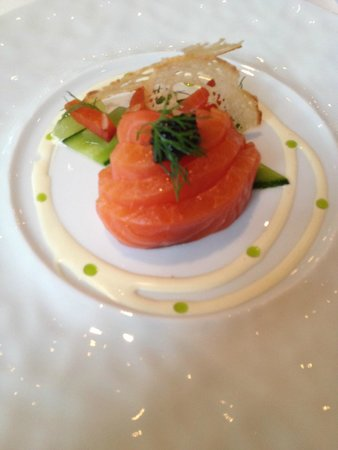 Roux at The Landau : Melt in the Mouth Salmon