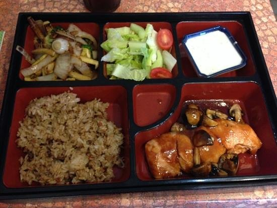 SoBaya Japanese Bistro: The teriyaki salmon lunch special