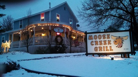Moose Creek Grill in winter