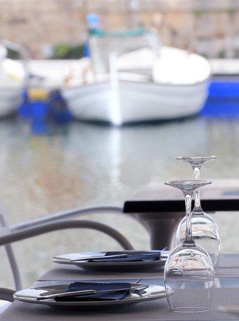 Restaurant Des Port: atardecer en el puerto