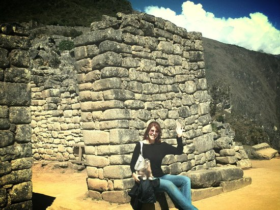Machu Picchu: Saludando