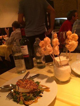 Restaurante La Tragantua: Buen comienzo del menú degustación;)
