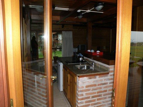 Il Belvedere: Entramos a la cocina.