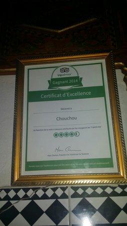 Chez Chouchou: Certificat