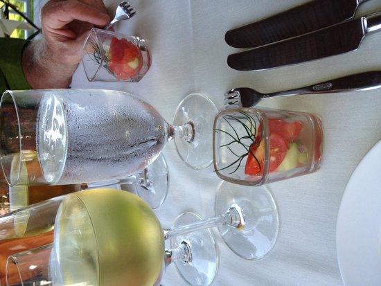 Suzanne Fine Regional Cuisine: Watermelon and dill canape