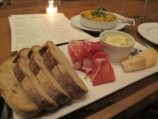 Corkbuzz: Charcuterie and cheeses! The homemade Ricotta is to die for!