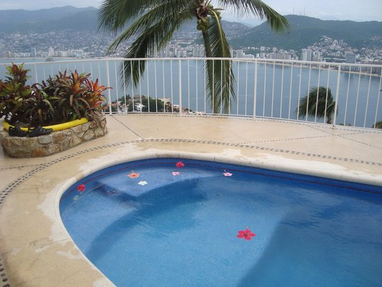 Las Brisas Acapulco: Fresh flowers in the pool every morning
