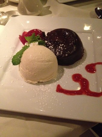 Luce: Chocolate lava cake...a little too jelly on the outside.