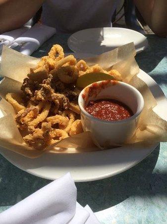 Fishbones in the Village: fried calamari