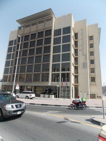 Outside Centro Barsha Hotel :-)