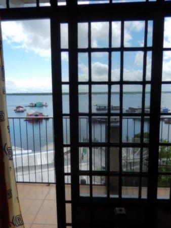 Vista do lago Tefé da Pousada Multicultura
