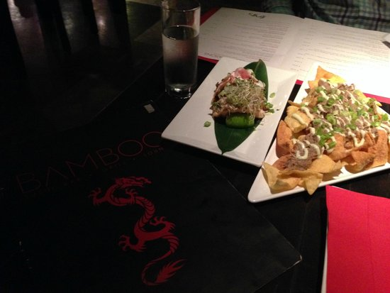Bamboo: Duck Nachos and Japanese Tacos