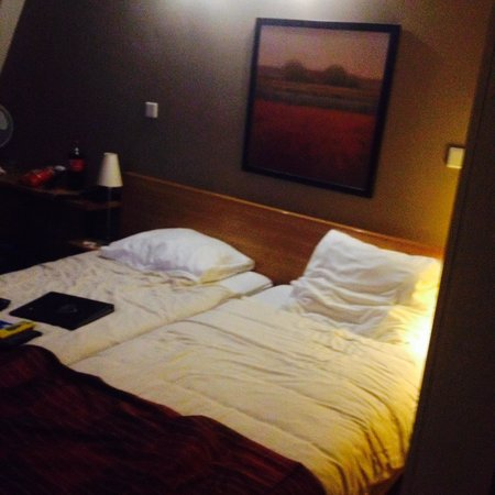 Hotel Hoogeveen: 2small single beds pushed together