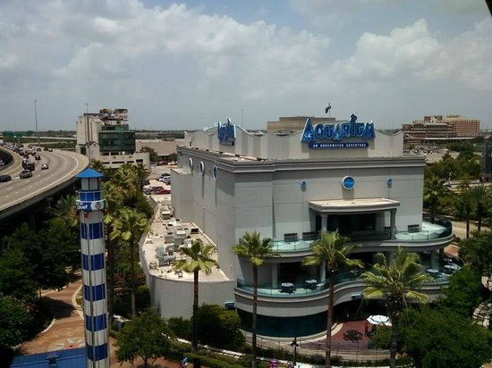 Downtown Aquarium: The exhibit building as seen from the Ferris wheel ride