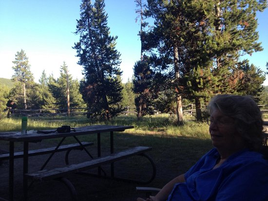 Headwaters Lodge & Cabins at Flagg Ranch: Kicked back in RV space 619