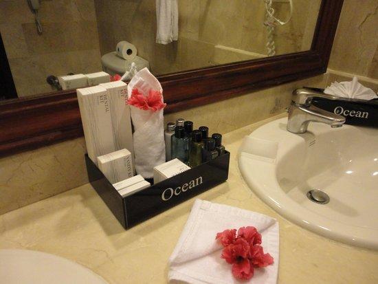 Ocean Blue & Sand: Mimos no banheiro