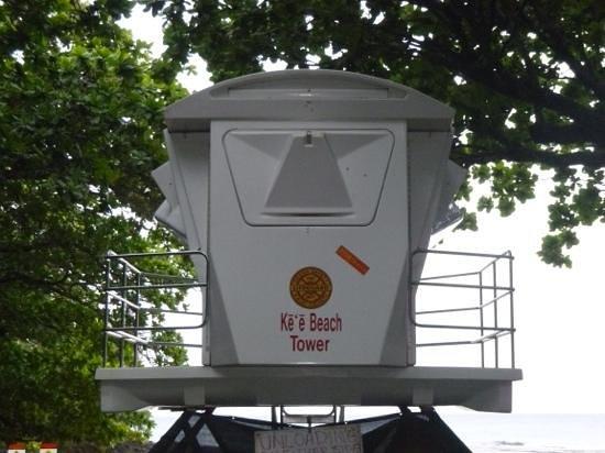 Ke'e Beach : tower