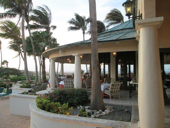 The Restaurant at Tierra del Sol: Veranda seating outdoors...