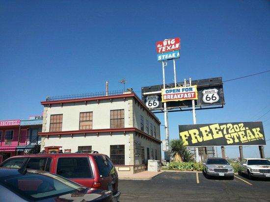 Big Texan Steak Ranch : Part of the motel