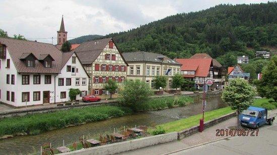 Zur Alten Brucke: Agradable paisaje desde la ventana de la habitación