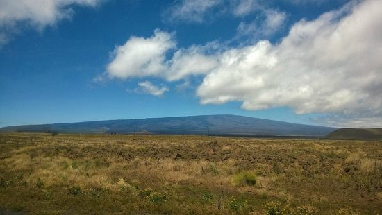 Hawaii Forest and Trail : The beginning of the trip showing the perfect shield volcano!