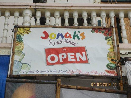 Jonah's Fruit Shake & Snack Bar: Jonah's Fruitshakes is OPEN!