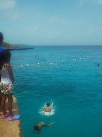 La Piscinita: Al agua  desde  el trampolin !!!
