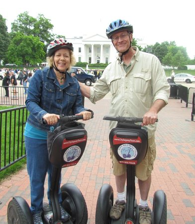 City Segway Tours DC : Me & my crazy crooked helmet-oh well!