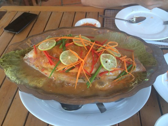 Memoria Palace & Resort: Red fish steamed with lemon at Memoria Palace Restaurant ...