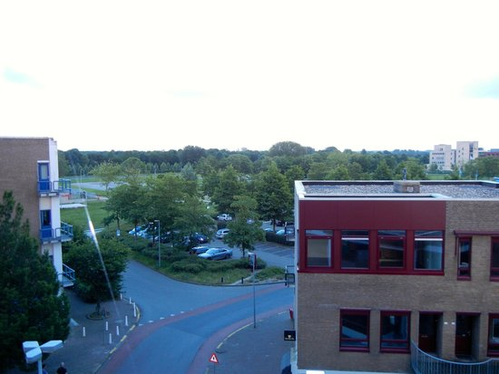 Apollo Hotel Lelystad City Centre : A little green from the window.